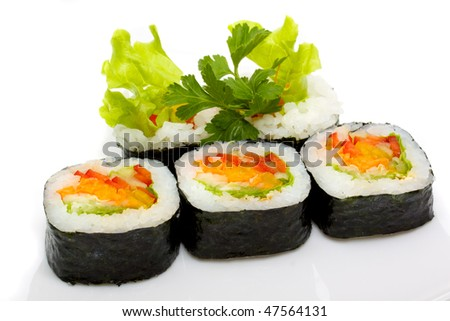 japan trditional food isolated - stock photo