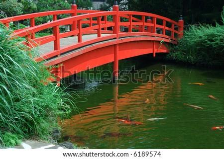 Wooden Garden Bridge Stock Images Royalty Free Images Vectors