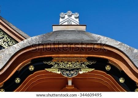 Japanese architecture - stock photo