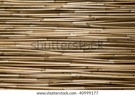 Japanese bamboo arrangement as part of interior design - stock photo