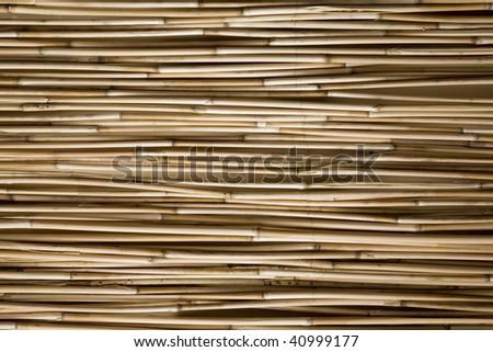 Japanese bamboo arrangement as part of interior design - stock photo