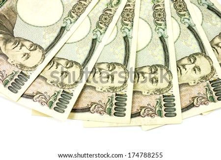 Japanese bank note - 10,000 Yen notes  - stock photo