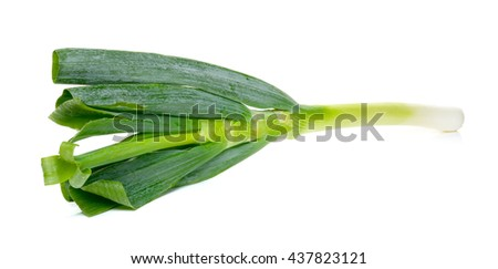 japanese bunching onion isolated on white background.