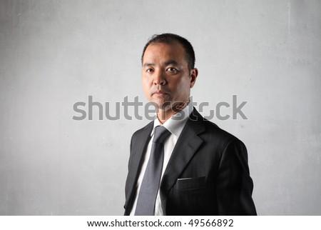 Japanese businessman - stock photo