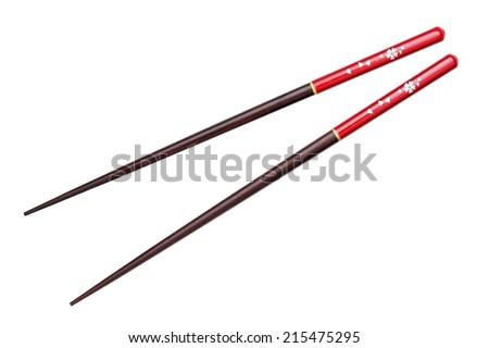 Japanese chopsticks, cherry blossom flower pattern? - stock photo