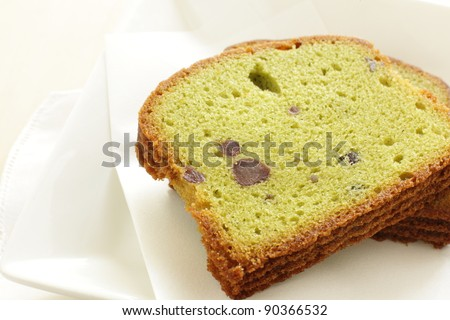 Japanese confectionery, Green tea Macha cake