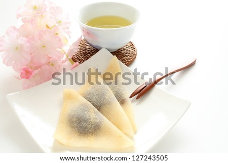 Japanese confectionery, Yatsuhashi Traditional kyoto sweet - stock photo