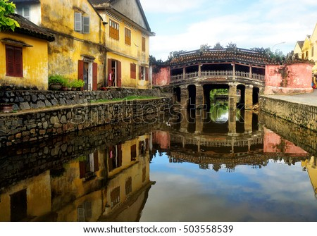 Japanese Covered Bridge in Hoi An Ancient Town, Vietnam