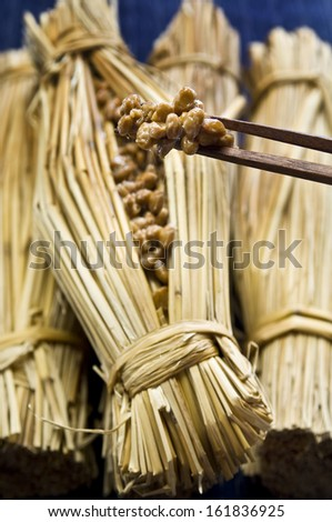 Japanese cuisine fermented soybean Natto - stock photo