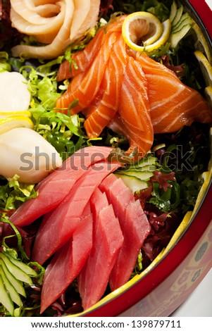 Japanese Cuisine - Sashimi Plate - stock photo