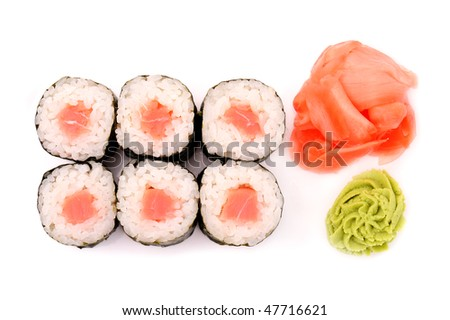 Japanese cuisine: seafoods and other - stock photo