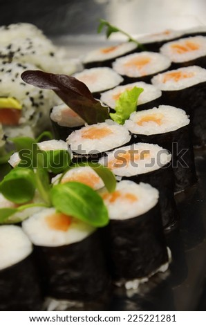 Japanese Cuisine sushi rice roll