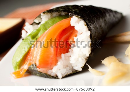 Japanese Cuisine - Temaki - stock photo