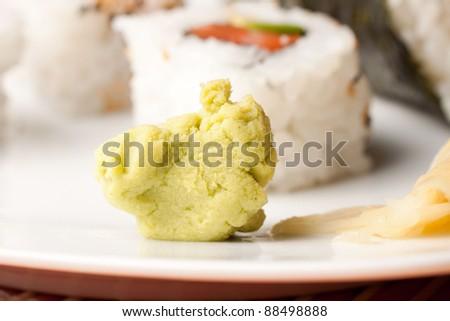Japanese Cuisine - Wasabi - stock photo