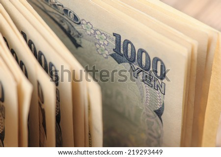 Japanese currency notes , Japanese Yen - stock photo