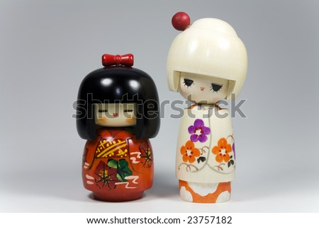 Japanese dolls - stock photo