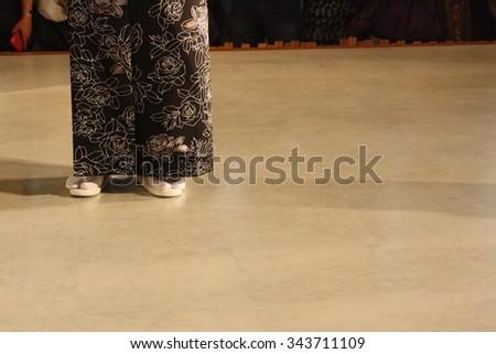 Japanese fashion show feet - stock photo