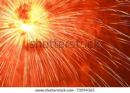 Japanese firework - stock photo