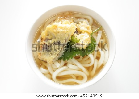 Japanese food, Hamo Tempura on Udon noodle - stock photo