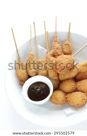 Japanese food, Kushiage deep fried skewer food