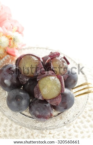 Japanese food, Kyoho grape for autumn dessert image