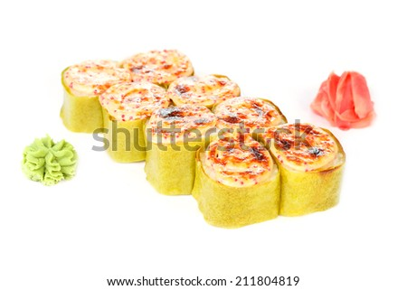 Japanese food on a white background