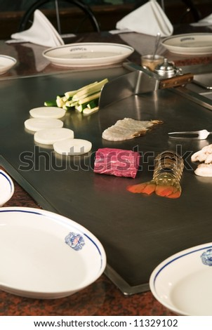 Japanese Food prepared to be cooked