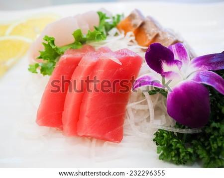 Japanese food : sashimi - stock photo