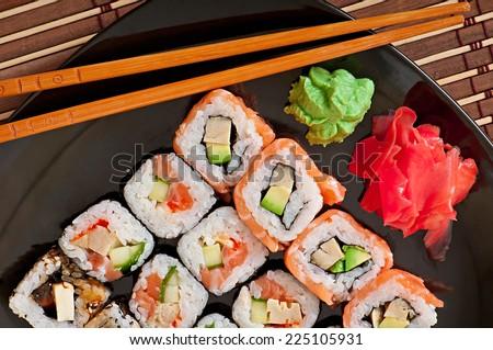 Japanese food - Sushi and Sashimi - stock photo