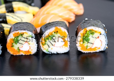 Japanese food,Sushi and Sashimi - stock photo