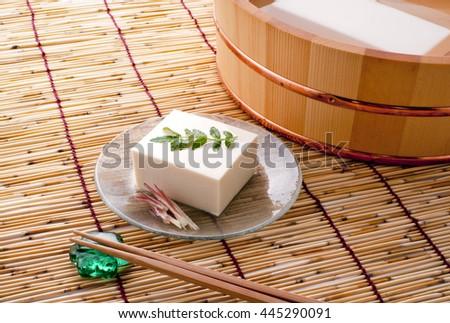 Japanese food (tofu) - stock photo
