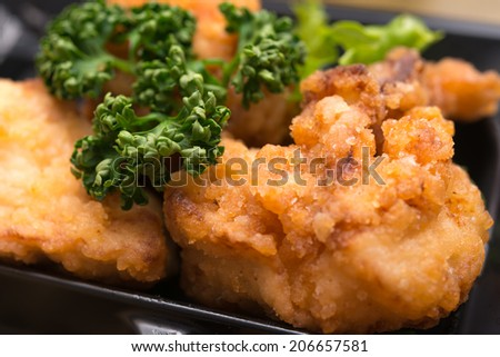Japanese fried food karaage - stock photo