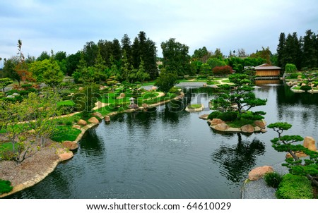 Japanese garden - stock photo