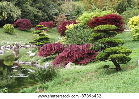 Japanese Garden, Kyoto, Japan - stock photo