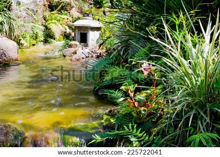 Japanese garden, Miami - stock photo