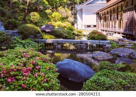 Garden Bridge Stock Images Royalty Free Images Vectors