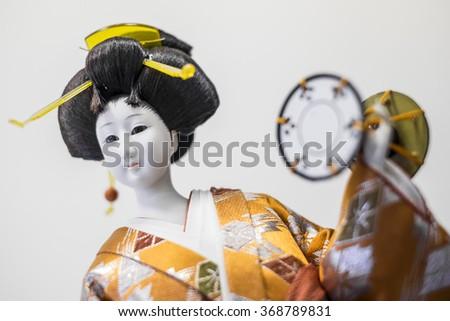 Japanese Geisha Doll - stock photo