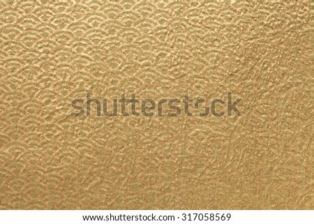 Japanese gold paper - stock photo