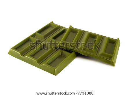Japanese green chocolate made from green tea.