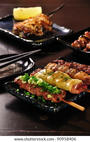 japanese grilled food - stock photo