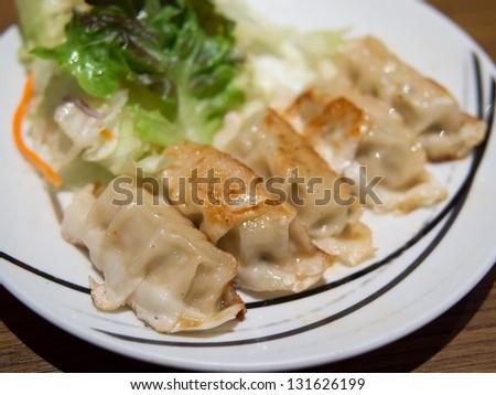 Japanese Gyoza (Dumplings) - stock photo
