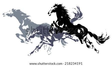 Japanese horse - stock photo