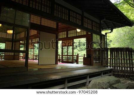 Japanese house - stock photo