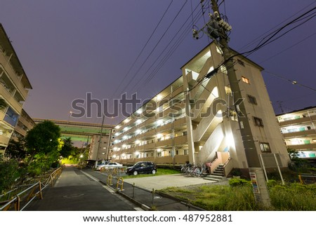 Japanese housing complex bus