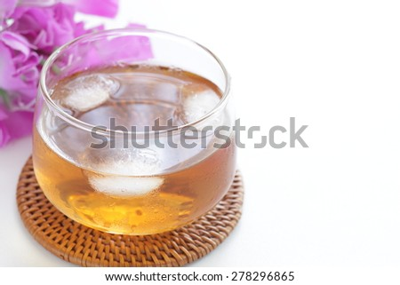 Japanese iced barley tea for summer image