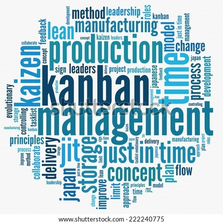 Japanese Kanban Concept in word collage - stock photo