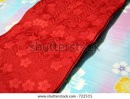 Japanese Kimono and Obi - stock photo
