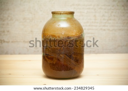 Japanese Kombucha, homemade fermented drink - stock photo