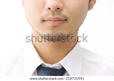 japanese man - stock photo
