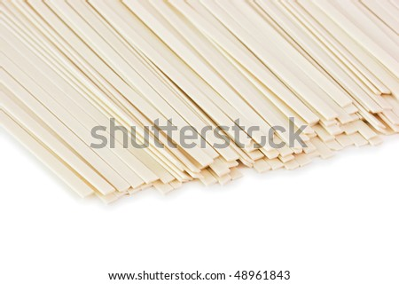 Japanese noodles isolated on a white background